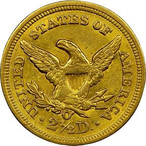 1854 O $2.5 MS reverse