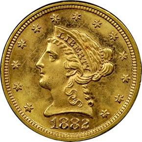 1882 $2.5 MS obverse