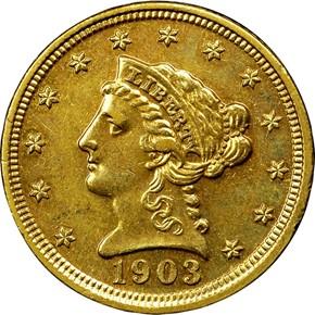 1903 $2.5 PF obverse