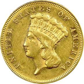 1870 $3 MS obverse