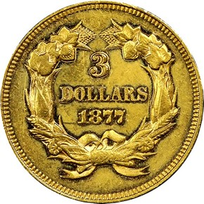 1877 $3 MS reverse