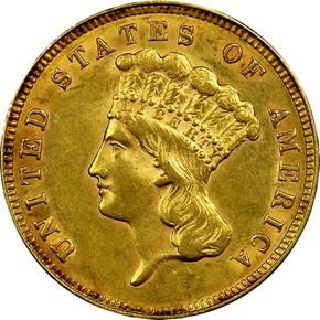 1888 $3 MS obverse