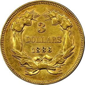 1888 $3 MS reverse