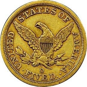 1846 O $5 MS reverse