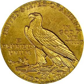 1910 $5 MS reverse