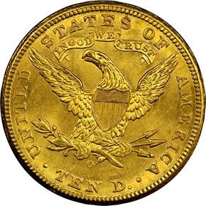 1894 O $10 MS reverse