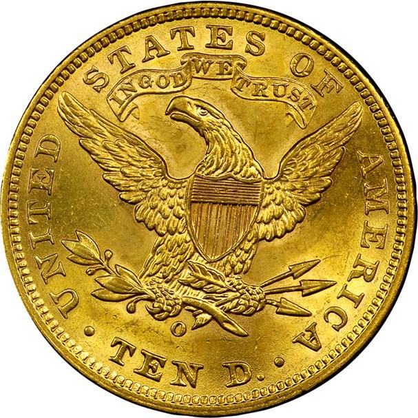 1906 O $10 MS Liberty Head $10 | NGC