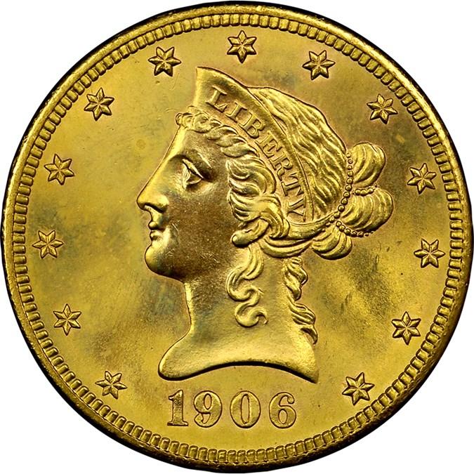 1906 S $10 MS Liberty Head $10   NGC