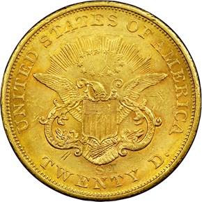 1855 S $20 MS reverse