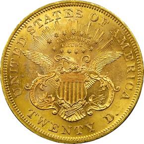 1867 $20 MS reverse