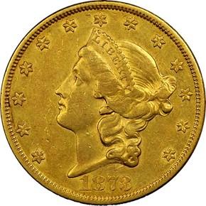 1873 CC $20 MS obverse