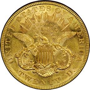 1876 $20 MS reverse