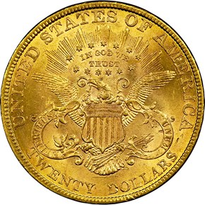 1878 $20 MS reverse