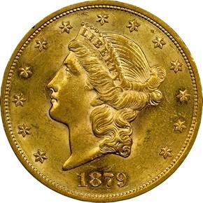 1879 S $20 MS obverse