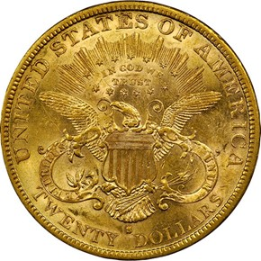 1881 S $20 MS reverse