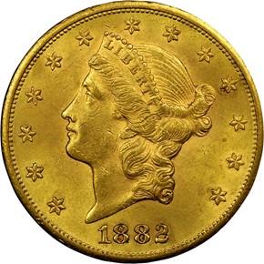 1882 CC $20 MS obverse