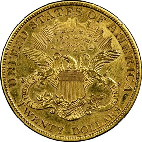 1885 $20 MS reverse