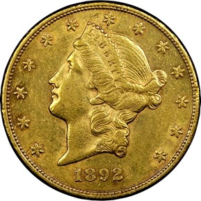 1892 CC $20 MS obverse