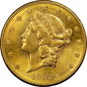 1902 S $20 MS obverse