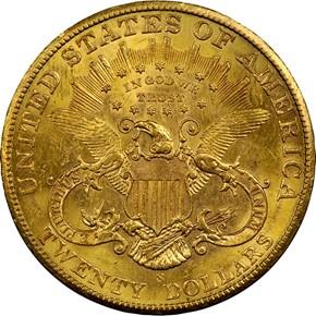 1902 S $20 MS reverse