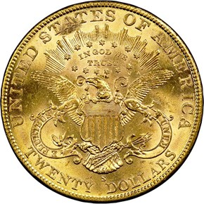 1905 S $20 MS reverse