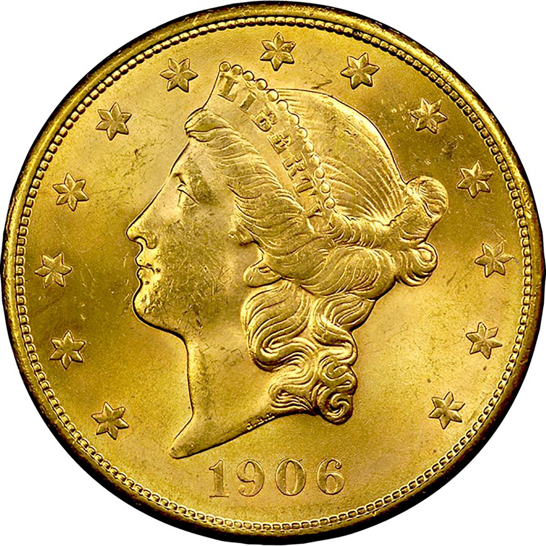 1906 S $20 MS Liberty Head $20 | NGC