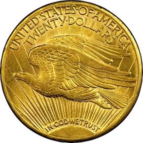 1908 S $20 MS reverse
