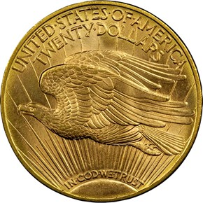 1909 D $20 MS reverse