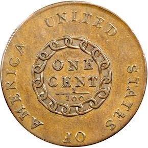 "1793 CHAIN ""AMERICA"" 1C MS reverse"