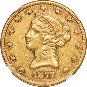 1877 $10 MS obverse