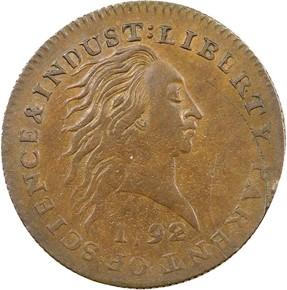 1792 J-2 1C MS obverse