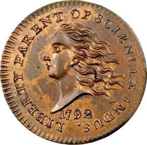 1792 J-11 10C MS obverse