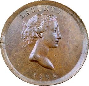 1792 J-12 25C MS obverse