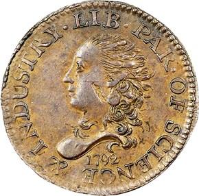 1792 J-8 H10C MS obverse
