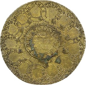 1776 BRASS 'CURENCY' CONTINENT reverse