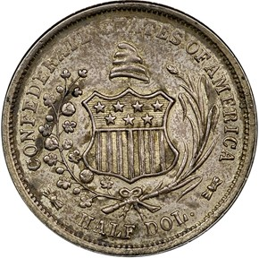 1861 CSA RESTRIKE B-8002 50C MS obverse