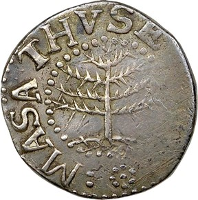 1652 NO PELS PINE TREE MASSACHUSETTS 6P MS obverse