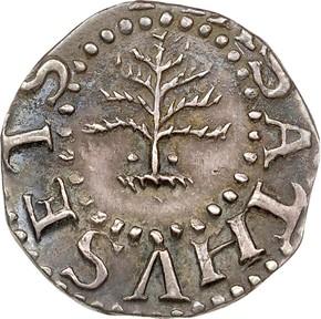 1652 PELLETS PINE TREE MASSACHUSETTS 3P MS obverse