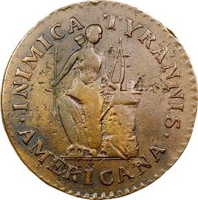 1785 INIMICA TYRANNIS CONFEDERATIO - SM STARS MS obverse