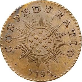 1785 INIMICA TYRANNIS CONFEDERATIO - SM STARS MS reverse