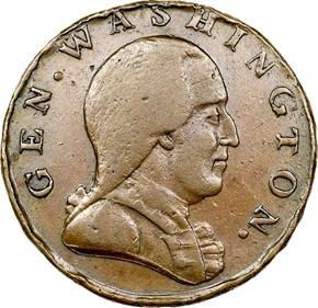 1785 GEN. WASHINGTON CONFEDERATIO - LG STARS MS obverse