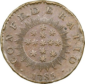 1785 GEN. WASHINGTON CONFEDERATIO - LG STARS MS reverse