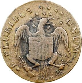 1786 EAGLE CONFEDERATIO - LG STARS MS obverse