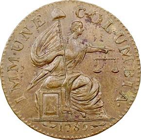 1785 14STARS POINT RAYS IMMUNE COLUMBIA MS obverse