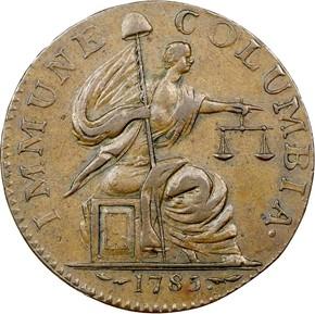 1785 13 STARS IMMUNE COLUMBIA MS obverse