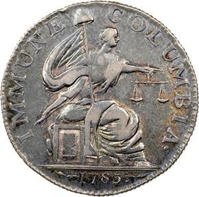1785 13 STARS IMMUNE COLUMBIA - SILVER MS obverse