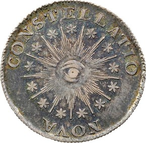 1785 13 STARS IMMUNE COLUMBIA - SILVER MS reverse