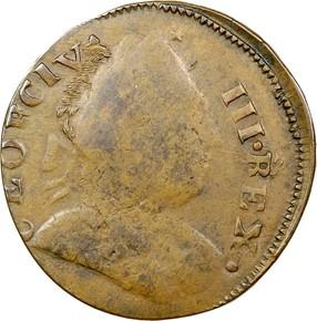 1785 GEORGE III IMMUNE COLUMBIA MS obverse