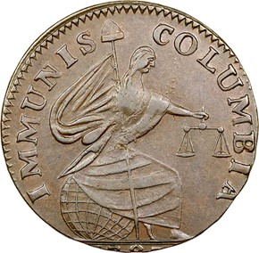 1787 IMMUNIS COLUMBIA EAGLE - PLAIN EDGE MS obverse