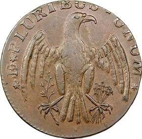 1787 IMMUNIS COLUMBIA EAGLE - PLAIN EDGE MS reverse